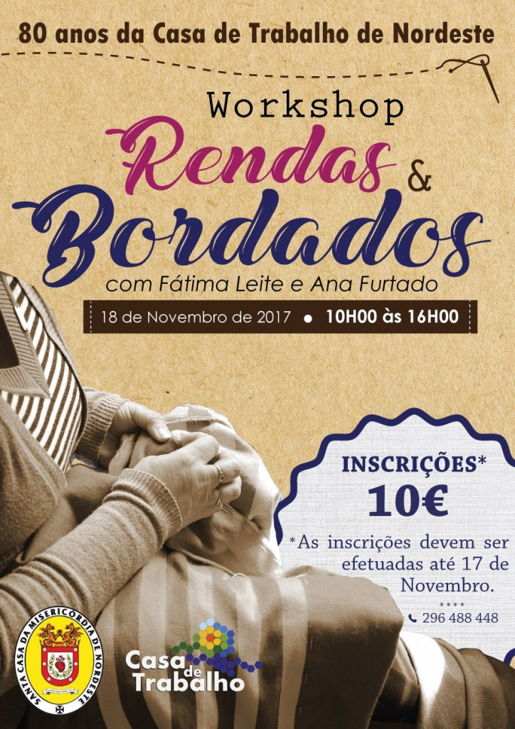 Workshop renda e bordado