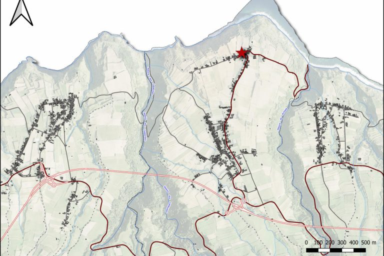 nucleo etnografico achada mapa