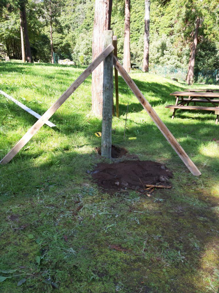 Limpezas e pequenas reparações no Parque de Campismo da Feira ok