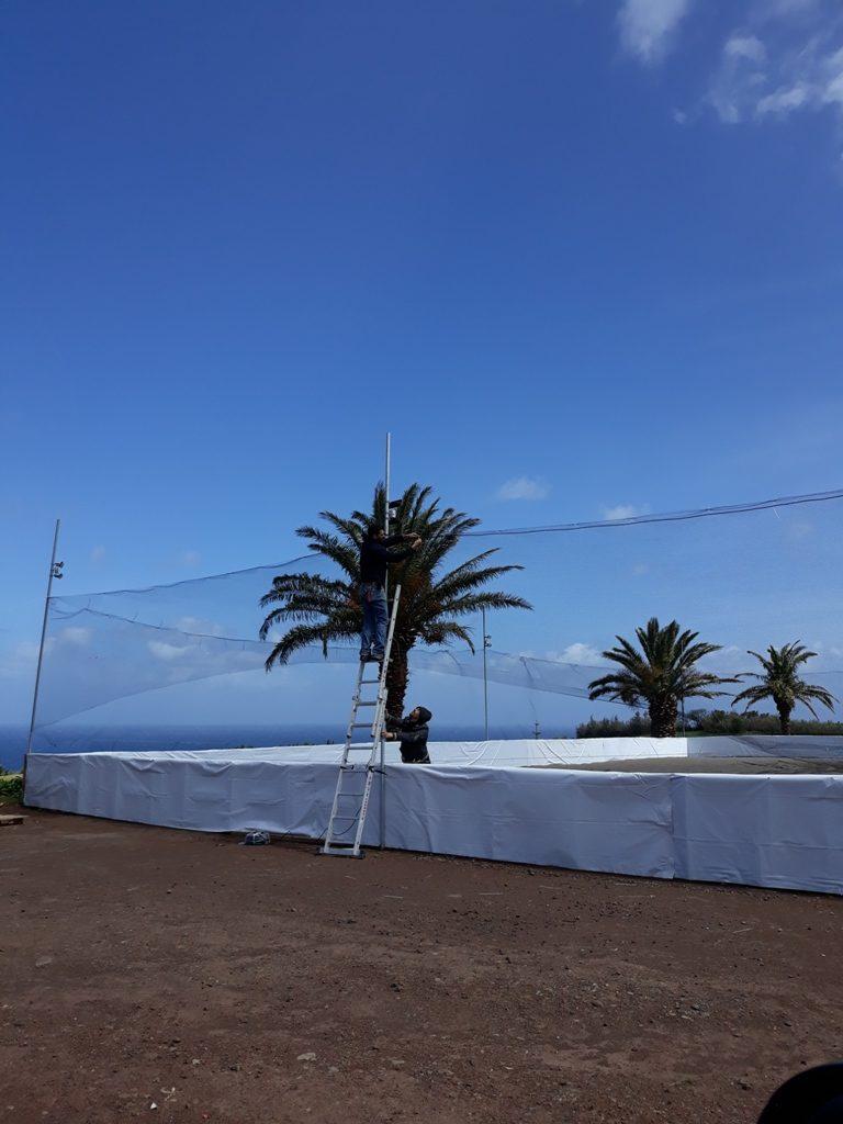 Implementação do Campo de Voleibol e Futebol de Praia - Vila do Nordeste
