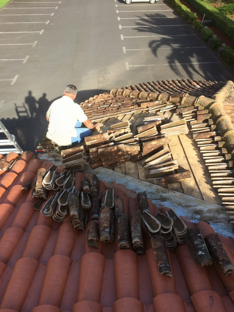 Reparação do telhado do Restaurante Tronqueira