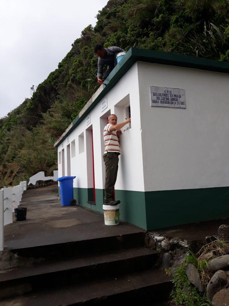 Preparação da Praia do Lombo Gordo para a abertura da época balnear