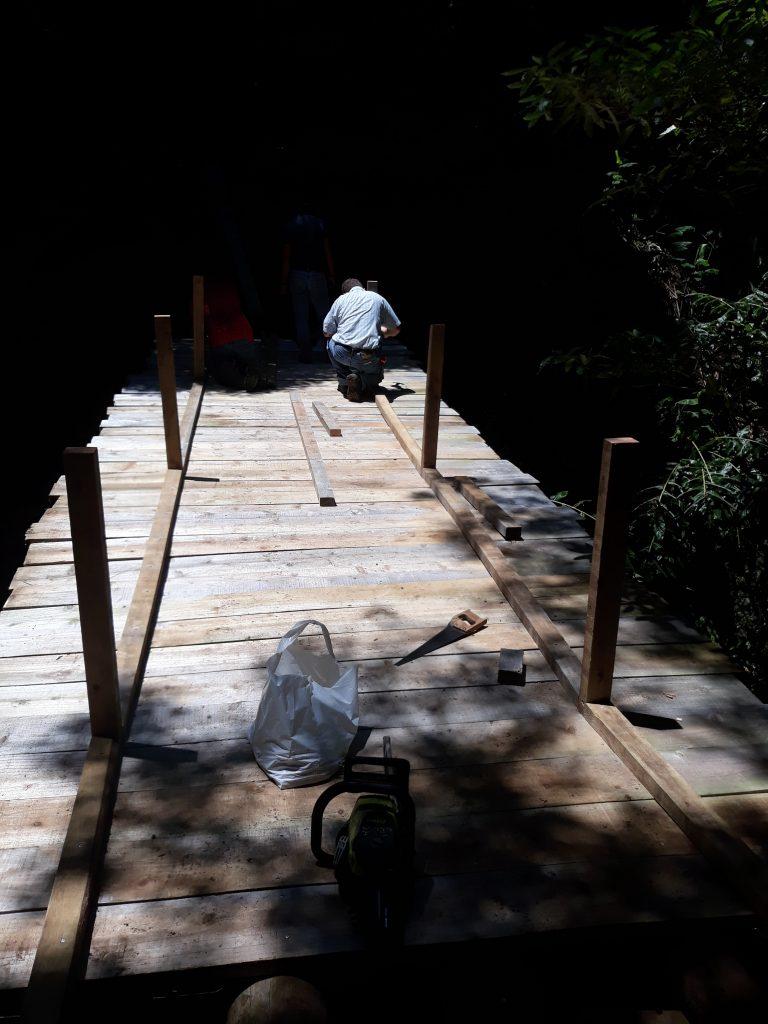 Substituição da ponte do trilho da Senhora do Pranto