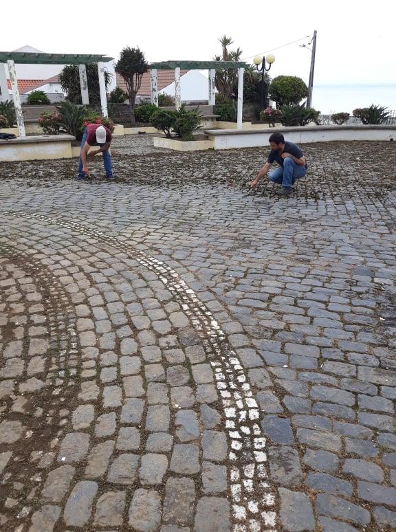 Limpeza do património - Joga do Jardim Público da Achada