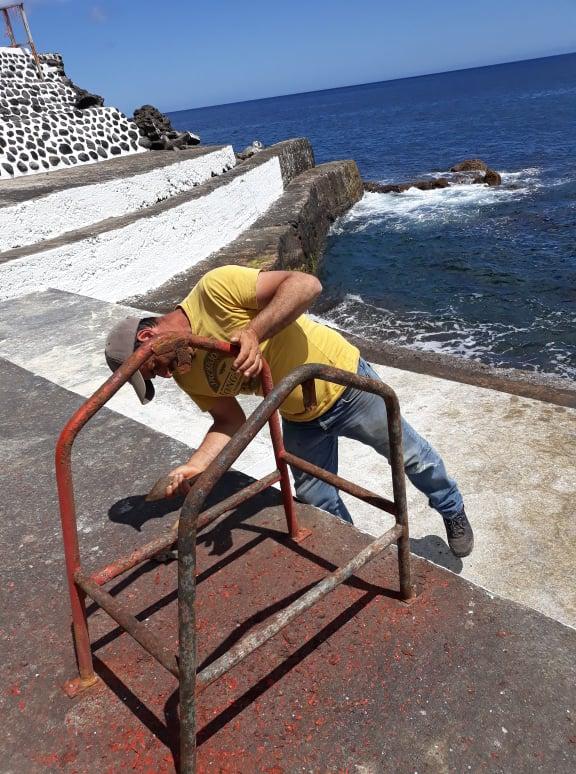 Trabalhos de preparação da Boca da Ribeira para a época balnear (3