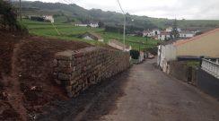 Alargamento da Rua do Calço com consolidação de muro, freguesia da Algarvia