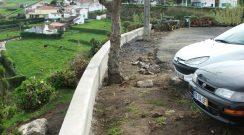 Alargamento do parque de estacionamento da Estrada Regional na Feteira Grande
