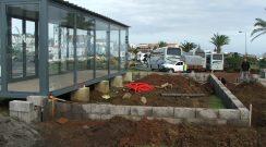 Execução de fundações do quiosque municipal na Vila do Nordeste