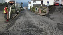 Remoção de árvores que se encontravam vulneráveis na Rua do Ramal na freguesia da Salga