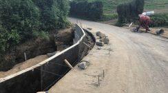 Execução de muro de suporte no Caminho das Queimadas