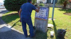 Substituição de placas toponímicas na Vila do Nordeste