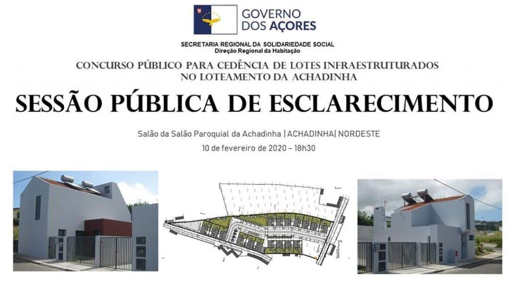 Sessão pública de esclarecimento - Loteamento da Achadinha